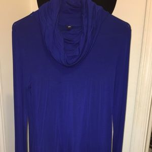 Cable & Gauge Swingy Cowl Neck Dress - Long Sleeve